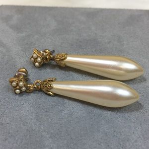 Jewelry - Faux Pearl & Seed Dangle & Drop Earrings